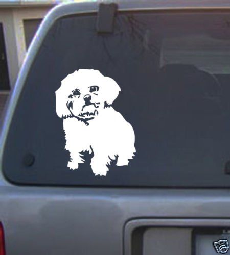 Decal Vinyl Graphic Dog Maltese 4 Colors to pick