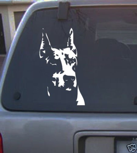 Decal Vinyl Graphic Dog Doberman 4 Colors to pick