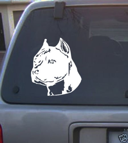 Decal Vinyl Graphic Dog Stafford  4 Colors to pick
