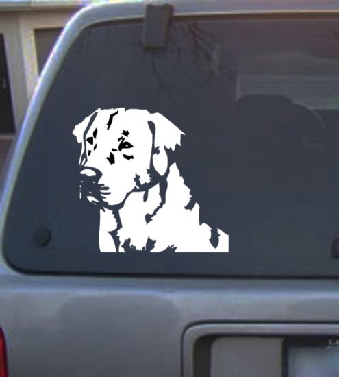 Decal Vinyl Graphic Dog Labrador  4 Colors to pick