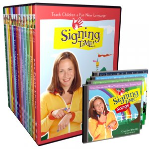Brand New Signing Time DVD Set Volumes 1-13 with 4 Free CD's and Free USPS Shipping