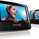 Philips 7-Inch Dual Screen Portable DVD Player Model: PET7402