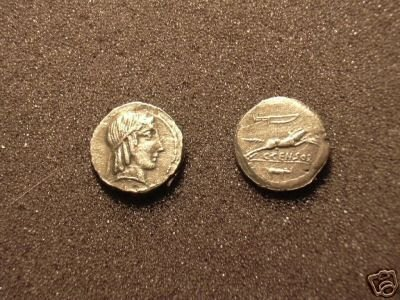 (RR-12) Denarius of Marcius Censor COPY