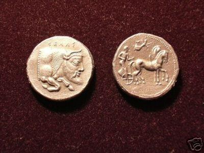 B 018 (DD-01825) Greek Tetradrachm of Gela COPY