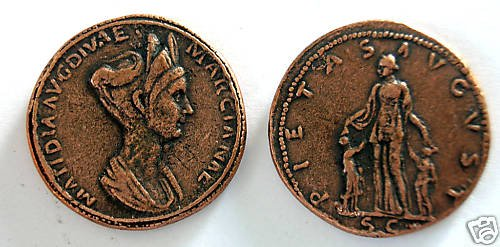 (DD S-54) Sestertius of Matidia COPY