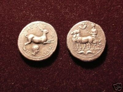 B 020 (DD-02025) Ancient Greek Coin of Messana COPY