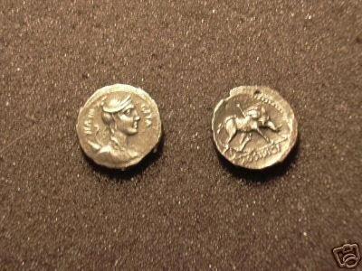 (RR-21) Denarius of Hosidius C.f.Geta COPY