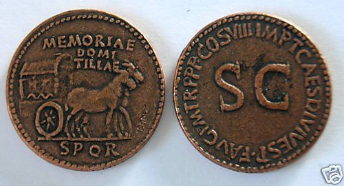 (DD S-44) Sestertius of Domitella, Younger COPY