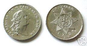 REPLICA COINS-529 1778 Taler of Frederick II COPY