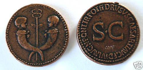 (DD S-19) Drusus, Jr.Sestertius COPY