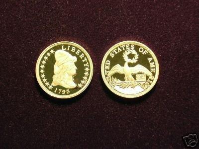 (MC R14-2) 1795 Half Eagle ($5 Gold) PR COPY (WC)