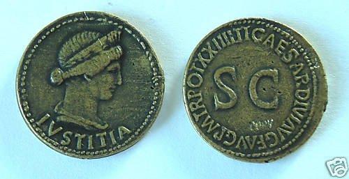 (DD S-14)  Livia Brass Dupondius COPY