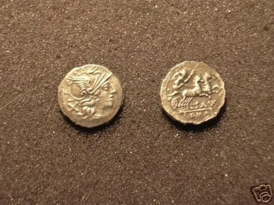 (RR-32) Denarius of Sex. Atillius  COPY