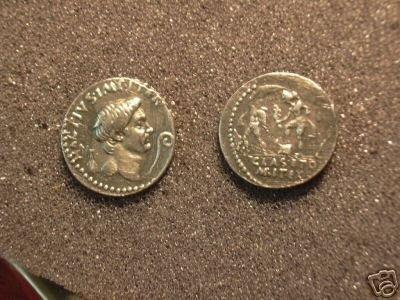 (RR-05) Denarius of Sextus Pompey COPY