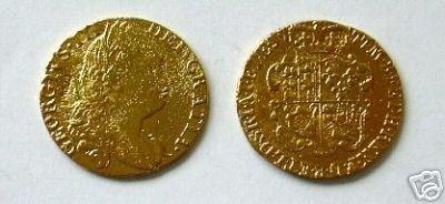 CC-518 1777 Gold Guinea of George III COPY