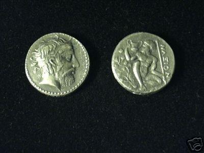 B 021 (DD-02125) Greek Tetradrachm of Naxos COPY