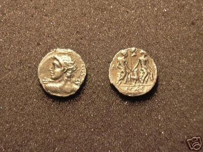 (RR-40) Denarius of Mn. Fonteius COPY