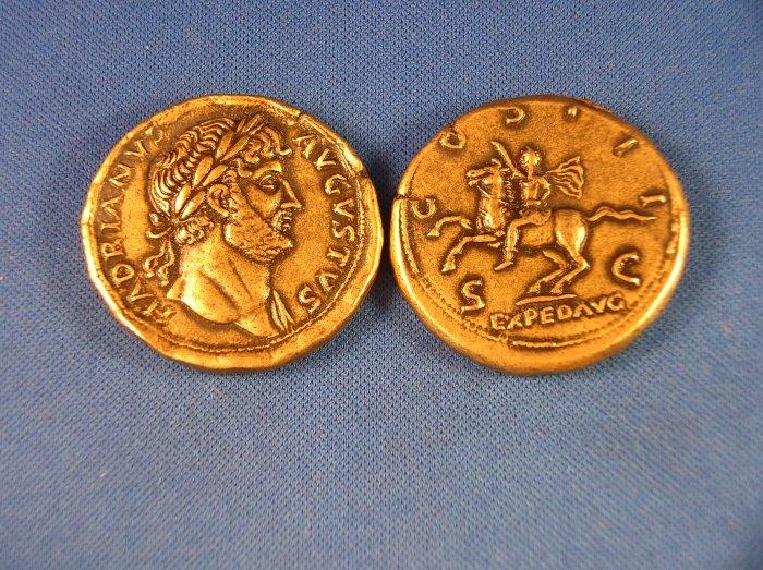 (DD Z-17)  Brass Sestertius of Hadrian COPY
