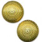 Round Goldtone Earrings