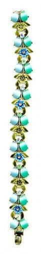 Goldtone Bracelet with Turquoise Stones