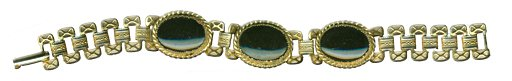 Goldtone Bracelet with Onyx