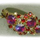 Ruby Crystal Hinged Bracelet