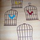 Bird Cage Bird   Scrapbooking or Card Die Cuts