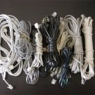 $9.99, Lot of 20 Phone Line Wire Cables from 2ft to 20ft long