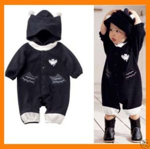Hooded Fleece Baby Bat Man Batman 6-12M, girl, boy NWT