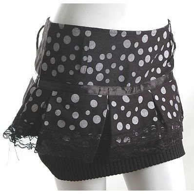 80s polkadot new wave lampshade style skirt unique! s-m free ship!