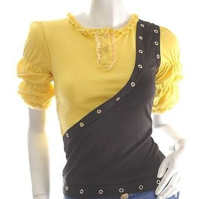 unique futuristic cyber goth punk grommet studs ruched asymmetrical runway style top s/m free ship!