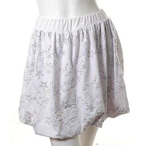 unique urban silver metallic stars print structured skirt s-m free ship!