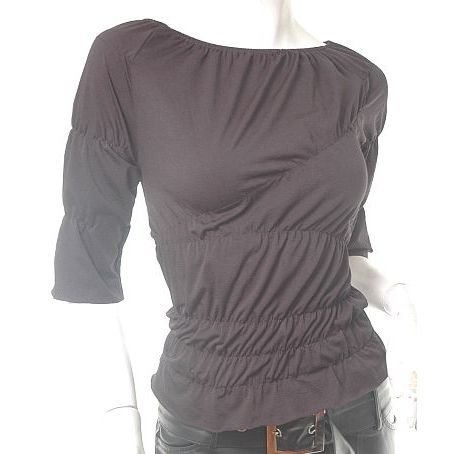 unique runway insp avantgarde futuristic ruched asymmetrical goth top s-m free ship!