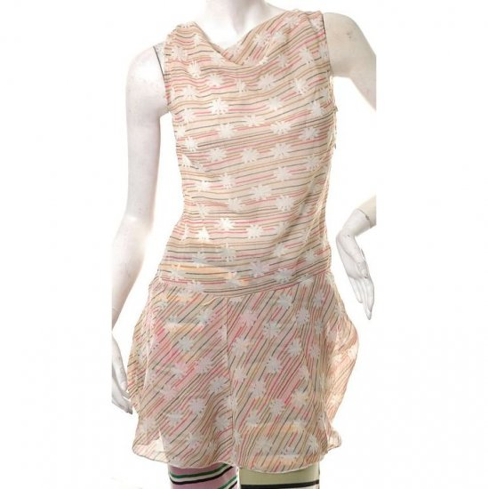 cute crayon lines snowflakes print mini cowl dress 80s s free ship!