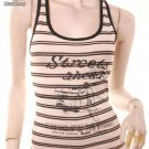 Emo scooter vespa print racerback striped tank top free shipping!