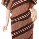 M-l haute graduating striped 70s 80s kimono cut dress free shipping