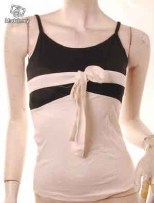 Xs bow stripe tennis top bare back emo BLACK WHITE free shipping :  tops clothing shoes shirts womens clothing