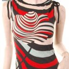 2010 80s modern art print muscle sleeveless top s free shipping!