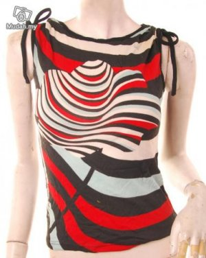 2010 80s modern art print muscle sleeveless top s free shipping! :  tops clothing shoes shirts womens clothing
