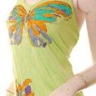 Hip artsy butterfly art halter bareback boho top s free shipping