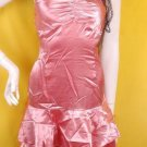 2010 RUNWAY FASHION CLOTHING SHEER TREND COCKTAIL DRESSES PINK METALLIC BOUDOIR TREND DRESS