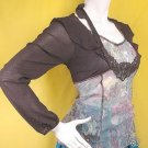 M-L 2010 TRENDS RUNWAY FASHION CLOTHING SHEER TREND EDWARDIAN THEMED BUSTIER SHRUG TOP