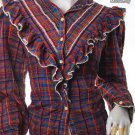 EMO INDIE CHECKS FASHION TREND ROCKABILLY CLOTHING VINTAGE CLOTHES 80S PLAID VICTORIAN SHIRT