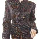 L black colorful embroidered chinese insp jacket