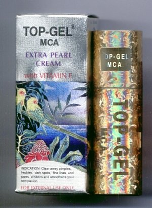 4pcs TOP-GEL MCA Extra PEARL CREAM Top Gel VITAMIN E, FREE SHIPPING