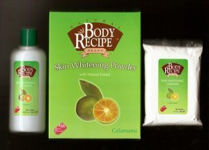 HBC Natural Body Recipe Brand Calamansi Skin Whitening Powder with Natural Extracts, FREE SHIPPING