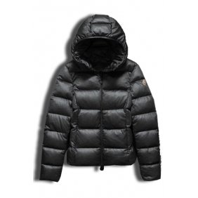 Moncler Gray Jersey Quilted Down Jacket Women