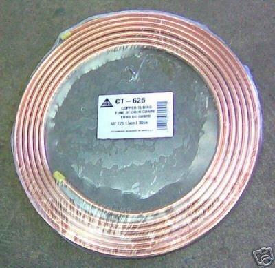 """Soft Copper Tubing 3/8""""x25' Tube de cobre ouen cuivre"""