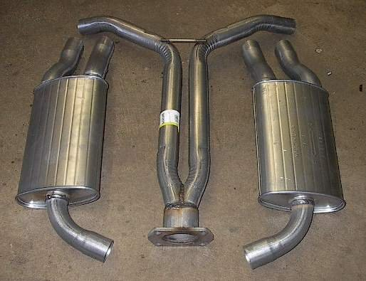Y Pipe and 2 Mufflers 1985 Chevrolet Corvette Vette