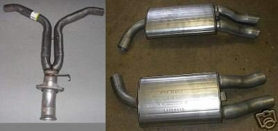 Y Pipe & Both Rear Mufflers 1986-90 Chevrolet CORVETTE